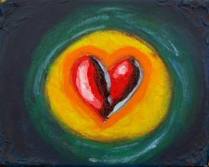 Happy to share more than 24 heart paintings. Having completed a series, let me know if you are interested in owning an original.